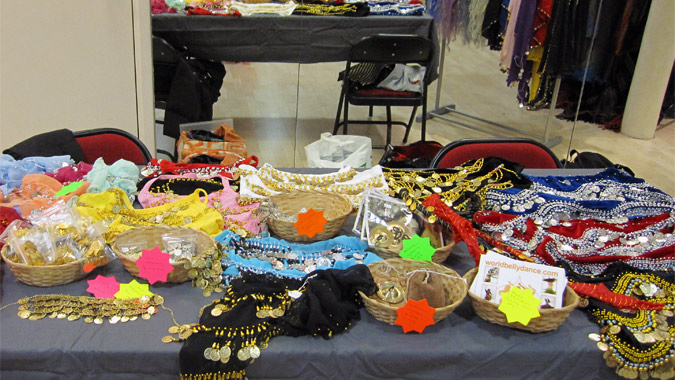 Belly dance stall