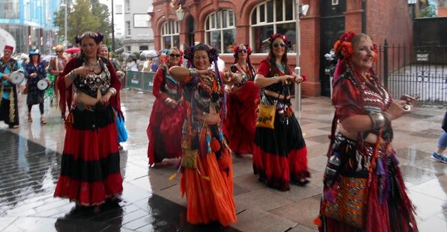 Tribal bellydance parade