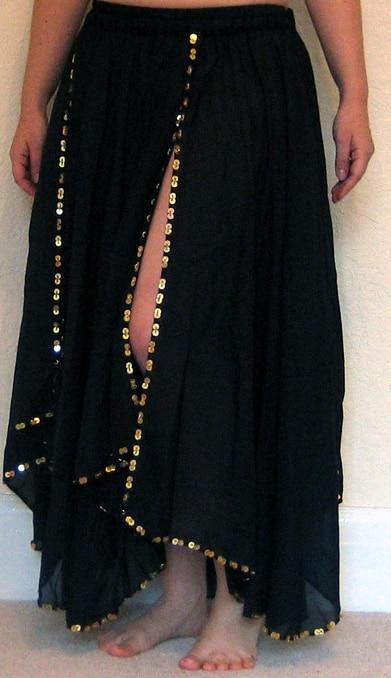 Black-Chiffon-skirt-front