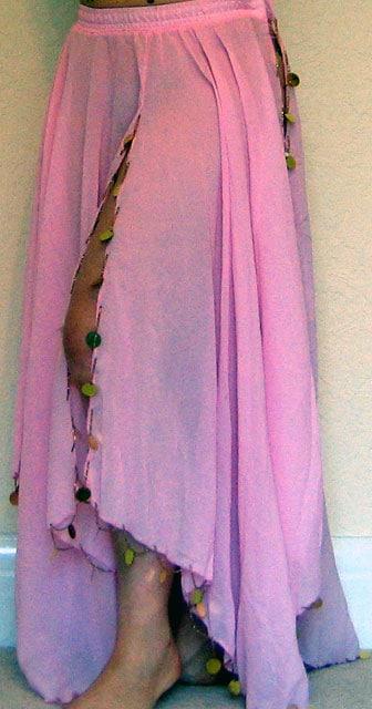 Pink-Chiffon-skirt