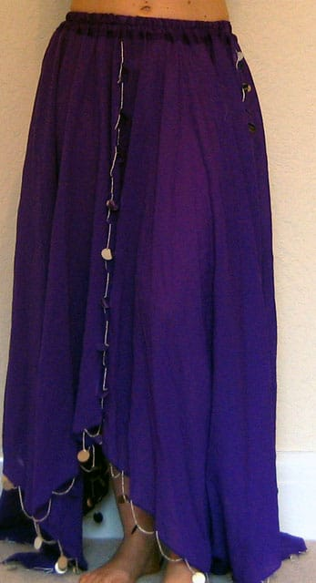 Purple-Chiffon-skirt